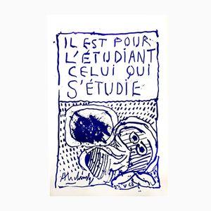 Póster Mai 68 de Pierre Alechinsky para Tchou Editions, 1968