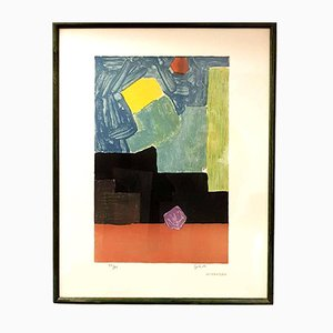 Abstract Composition Lithograph by Emile Gilioli, 1960s