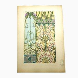 Blumen Lithographie von Alfons Mucha, 1902
