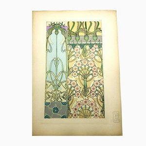 Litografia Flowers di Alfons Mucha, 1902