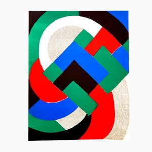 Lithograph by Sonia Delaunay for Cahiers d'art, 1972