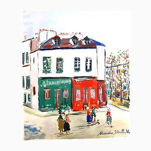 Inspired Village of Montmartre de Maurice Utrillo, años 50
