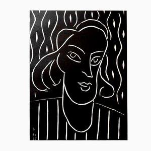 Teeny Linocut by Henri Matisse, 1938