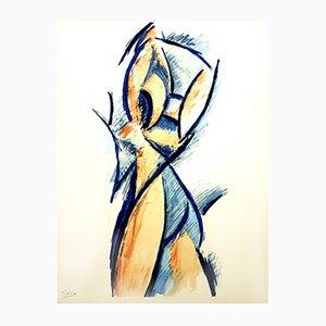 Pochoir Woman di Pablo Picasso, 1962