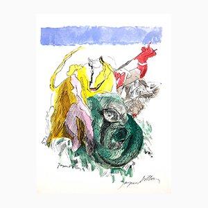 Bunter Geist Lithographie von Jacques Villon, 1960er
