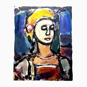 Lithograph from Divertissement Portfolio by Georges Rouault Margot, 1943