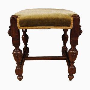 Niederländischer Vintage Stuhl aus Eichenholz & Samt, 1930er