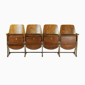 Vintage 4-Sitzer Kinobank von TON, 1960er