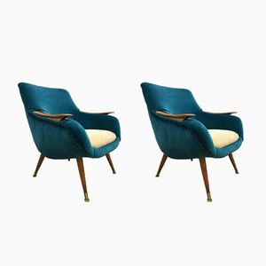 Vintage Danish Club Chairs, Set of 2