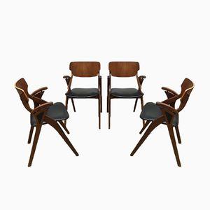 Dänische Vintage Esszimmerstühle von Arne Hovmand Olsen für Mogens Kold, 4er Set