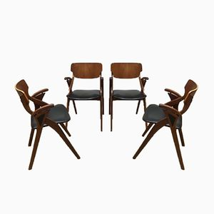 Vintage Danish Dining Chairs by Arne Hovmand Olsen for Mogens Kold, Set of 4