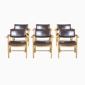 Esszimmerstühle von Hans Wegner für Getama, 1960er, 6er Set
