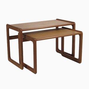 Teak Nesting Tables, 1960s, Set of 2