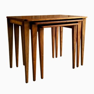 Mid-Century Walnut & Teak Nesting Tables from Gordon Russell, 1950s