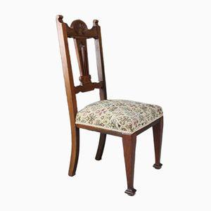 Edwardianische Esszimmerstühle aus Nussholz, 4er Set
