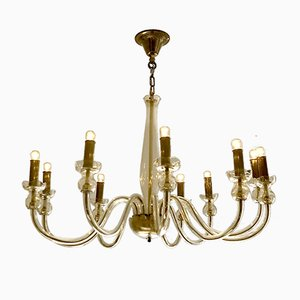 Lámpara de araña de cristal de Murano de Veronese, años 70