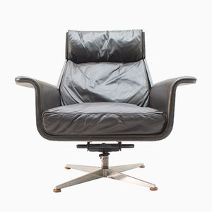 Leather Armchair by Hans Kaufeld, 1960s