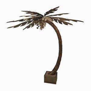 Lámpara de pie grande en forma de palmera de Maison Jansen, años 70