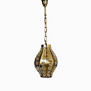 Lampe à Suspension Mid-Century en Laiton par Emil Stejnar pour Austrian Modern