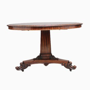 Antique British Zebrawood Center Table