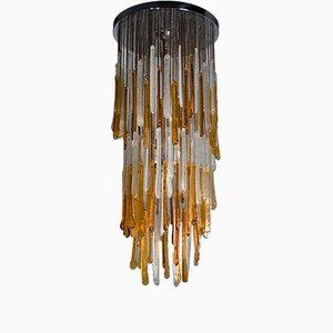 Lámpara de cristal de Murano de Mazzega, años 60