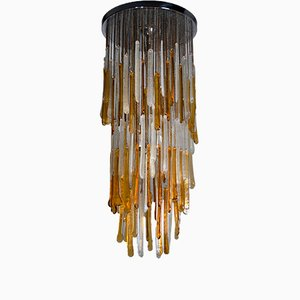 Murano Glass Lamp from Mazzega, 1960s