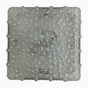 Wandleuchte aus Glas in Blasen-Optik von Helena Tynell für Glashutte Limburg, 1960er