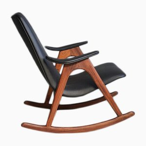 Rocking Chair Gentleman par Louis van Teeffelen pour Webe, 1960s