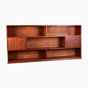 Danish Teak Bookcase with Integrated Bar, 1950s