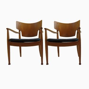 Danish Chairs by Peter Hvidt & Orla Mølgaard-Nielsen for Portex, 1944, Set of 2