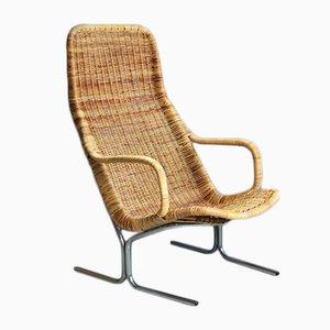 Rattan Lounge Chair by Dirk van Sliedregt for Gebroeders Jonker, 1950s