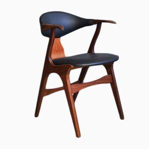 Stuhl in Kuhhorn-Optik von Louis van Teeffelen für AWA, 1950er