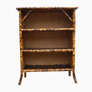 Viktorianisches Bücherregal aus Bambus