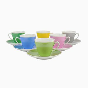 Colorful Coffee Cups from MZ Stara Role, 1960s, Set of 6