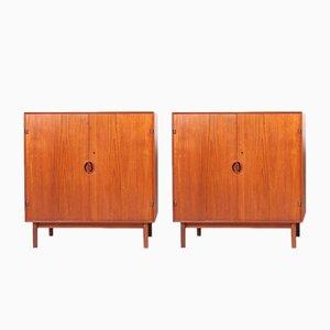 Mobiletti vintage in teak di Peter Hvidt e Orla Mølgaard-Nielsen per Søborg Furniture Factory, set di 2
