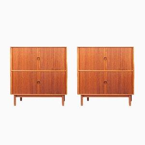 Vintage Teak Cabinets by Peter Hvidt & Orla Mølgaard-Nielsen for Søborg Møbelfabrik, Set of 2