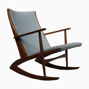 Sedia a dondolo di Holger Georg Jensen per Kubus, anni '50