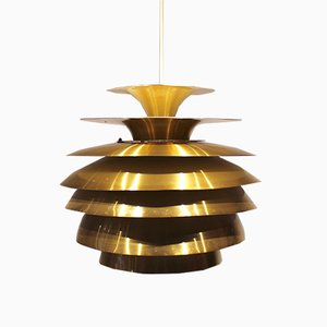 Lámpara colgante de latón de Bent Karlby, años 60