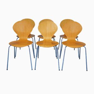 Danish Stacking Dining Chairs from Phoenix, 1990s, Set of 6