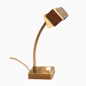 Lámpara de mesa ajustable de latón de Pfäffle-Leuchten, años 50