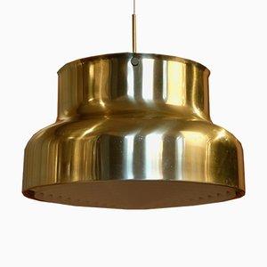 Lámpara colgante Bumling grande de latón de Anders Pehrson para Atélje Lyktan, años 60
