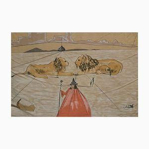 Tapiz de pared de Salvador Dali para Spaden, años 70