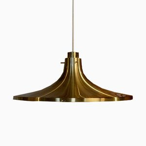 Large Brass Pendant Light by Hans-Agne Jakobsson, 1960s