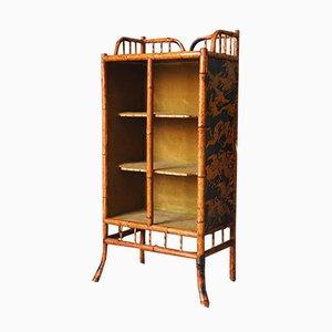 Antikes viktorianisches Bücherregal aus Bambusholz