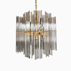 Chandelier with Glass Rods from Palwa, 1970s