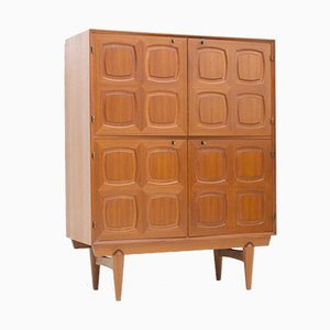 Graphic Teak Highboard by Rastad & Relling for Gustav Bahus, 1960s