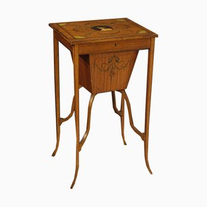 Antique English Inlaid Sewing Table