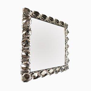 Espejo alemán iluminado de cromo y cristal de Palwa, años 60
