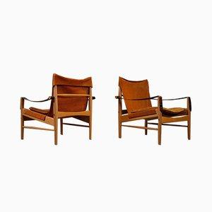 Lehnstühle von Hans Olsen für Viska Möbler, 1960s, 2er Set