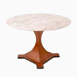 Mesa de comedor con tablero de mármol, años 40